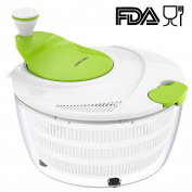 Salad Spinner LOVKITCHEN Large 3.8ls Fruits and Vegetables Dryer Quick Dry Design BPA Free Dry Off & Drain Lettuce and Vegetable with Ease for Tastier Salads and Faster Food Prep