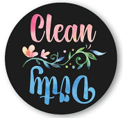 Dishwasher Magnet Clean Dirty Trendy Boho Watercolour Art 7.6cm Round Magnet - Art Lovers Kitchen Magnet with Decorative Flower for Home Decor, Gift for Men & Women,Kids or Party Favours, Made in USA