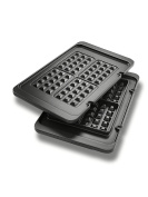 DeLonghi America DLSK152 Livenza All-Day Combination Contact Grill & Open Barbecue Waffle Plates, Black