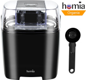 Ice-Cream Maker 1.5l With Digital Timer And Free Scoop Spoon, Soft-Serve Ice Cream, Sorbet, Dessert and Frozen Yoghurt maker, Makes Fresh Ice Cream at Home for your Kids and Family - Automatic