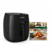 Philips TurboStar Airfryer, The Original Airfryer with Bonus 150+ Recipe Cookbook, Fry Healthy with 75% Less Fat, Black HD9621/99