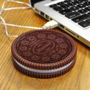 Cup Mat, Outgeek Insulation Coaster Cookie Shaped USB Heating Warmer Cup Mat