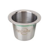 RECAPS Stainless Steel Nespresso Reusable Capsules Refillable Coffee Capsules Pods for Nespresso Machines
