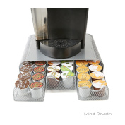 Mind Reader Triple Drawer Mesh K-Cup Single Serve Coffee Pod Drawer, Silver
