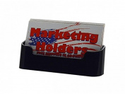 Deflecto Business Card Holders Single Compartment, 7.6cm - 1.9cm W x 2.5cm - 2.2cm H x 2.5cm - 1.3cm D, Clear (70101)