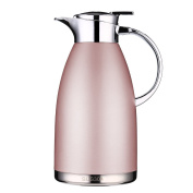 Coffee Thermos Stainless Steel 1890ml Thermos Large Travel Bottle Vacuum Insulated Coffee Carafe - Pink