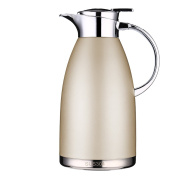 Thermal Carafes Stainless Steel Coffee Carafe 1890ml Thermos Large Travel Bottle Vacuum Insulated-Gold