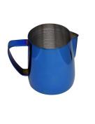 Latte Art   Stainless Steel Milk Frothing Pitcher Cobalt Blue 350ml Titanium Mirror Finish