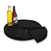 YouCopia Crazy Susan Turntable with Slide Out Shelves 41cm Black
