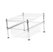 Seville Classics UltraZinc 2-Tier Pull-Out Sliding Basket Cabinet Organiser