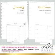 Colour Crush A5 Planner 12-Month Calendar Insert