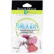 Eyelet Outlet Shape Brads 12/Pkg
