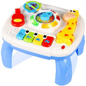 Musical Learning Table Baby Toys . up-Early Education Music Activity Centre Game Table Toddlers Toys for 1 2 3 Year Old -Different Lighting & Sound