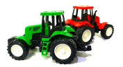 DPNY 2 x Real Look Mini Farmer Car Tractor Toy Pull Back And Go Action 15 x 8cm