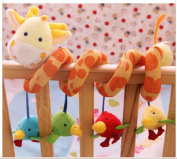 ELENKER™ Giraffe Baby Crib Activity Spiral Stroller Toy
