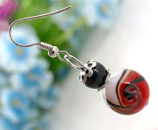 Ecloud Shop® Fashion Murano Lampwork Glass Dangle Earrings