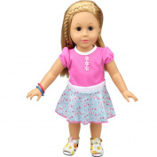 46cm Doll Clothes Dress Set for American Girl Doll Our Generation Mingfa Beautiful Skirt Outfits Doll Accessories