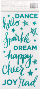 Shimelle Glitter Girl Thickers Stickers 14cm x 28cm 2/Pkg