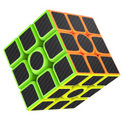 Rubiks Cube, Gritin Magic Cube 3x3x3 Smooth Speed Cube 3D Puzzles Cube With Vivid Colour Carbon Fibre Surface - Ultra Durable and Flexible Easy Turning for Brain Training Game or Holiday Christmas Gift