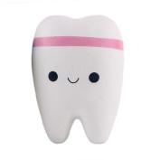 Teeth Squishy, Lance Home 1pc Jumbo Slow Rising Kawaii Smiley Squeeze Bun, Pink