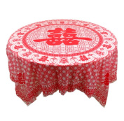 Set of 10 Disposable Tablecloths for Hotel/Party/Restaurant with Chinese Style