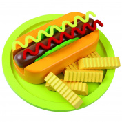 KiddyPlay Wooden Hot Dog & Fries Set