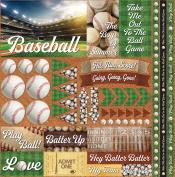 Baseball 2 Elements Stickers 30cm x 30cm