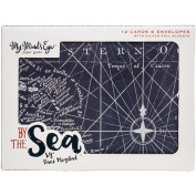 By The Sea Cards/Envelopes 12/Pkg