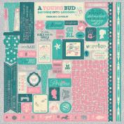 Darling Girl Cardstock Stickers 30cm x 30cm
