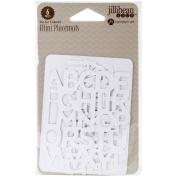 Alphabet Soup 2 Mini Placemats Die-Cut Cards 7.6cm x 10cm 6/Pkg