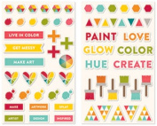 Shades Of Colour Puffy Stickers 65/Pkg
