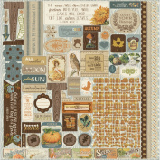 Nestled Cardstock Stickers 30cm x 30cm