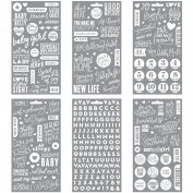 Me & My Big Ideas Pocket Pages Clear Stickers 6/Pkg