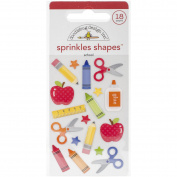 School Sprinkles Glossy Enamel Stickers