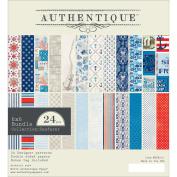 Authentique Double-Sided Cardstock Pad 15cm x 15cm 24/Pkg