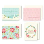 Sugar Plum Christmas Cards W/Envelopes 12/Pkg
