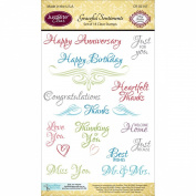 JustRite Papercraft Clear Stamps 10cm x 15cm
