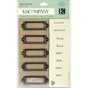 K & Company Eco Modern Metal Art Label Holders and Labels, 20-Pieces