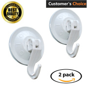 Super Powerful Vacuum Suction Hooks – Damage Free (No Drilling, No Screws, No Holes, No Glue) – Perfect for Hanging Your Bags, Cloths, Towels, Kitchen Tools, Bathroom Accessories