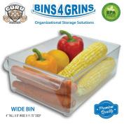 Stackable Bins Kitchen Storage Containers Refrigerator Organiser Single Wide Bin 4 Grins