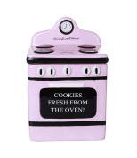 Retro Oven Freshly Baked Ceramic Cookie Jar with Air Tight Lid 20cm Tall