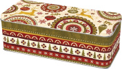Ideal Home Range DOW745160 Holiday Fillable Cookie Tin, Christmas Ornaments-Cream
