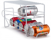Home Basics Soda Can Beverage Dispenser Rack – Dispenses 12 Standard Size 350ml Soda Cans and Holds Canned Foods
