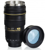 Lens Cup with Stainless Steel Insulated Tumbler, 1:1 Camera 24-70mm F2.8G Lens Imitation, 470ml