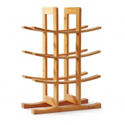 Natural Bamboo 12 Bottle Wine Rack (30cm X 14cm X 41cm ), Mosa Wine Accessories Countertop Table Desktop Wooden Wine Holder
