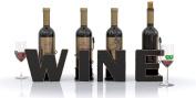 WINE Letter Metal Wine Bottle Holder - All 4 Letters WINE - Decorative Wine Bottle Holders - Gifts for Wine Lovers - by HouseVines