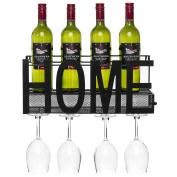 Best Choice Products Wine Rack Wall Mount Decorative Art Design Shelf