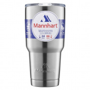 Mannhart Tumbler BPA Free Stainless Steel 890ml Travel Mug with Double Wall Vacuum Insulated and Sliding Lid Function Compatible with Ice Drink and Hot Beverage