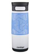 Contigo AUTOSEAL Transit Stainless Steel Travel Mug, 470ml, Opaque White with Periwinkle Accent Lid