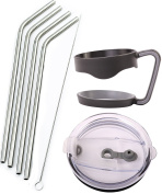 4 Straws + 1 Straw Lid + 1 Handle for Ozark Trail 890ml Double-Wall Rambler Vacuum Cups - CocoStraw Brand Drinking Straw